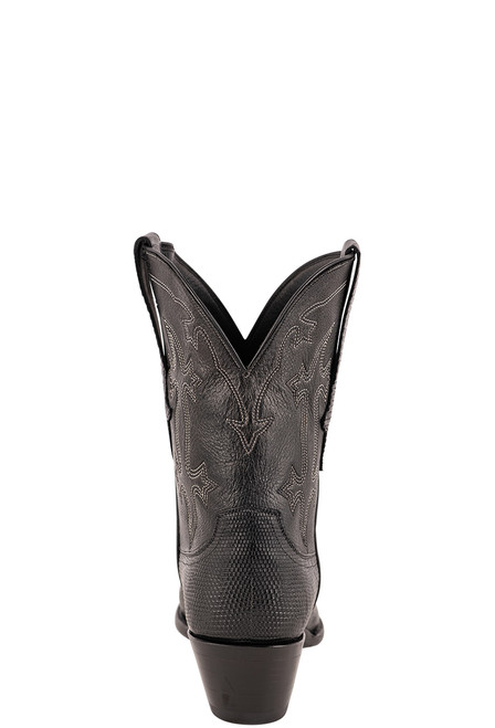 Stallion Women's Black Ring Tail Lizard Boots- Back