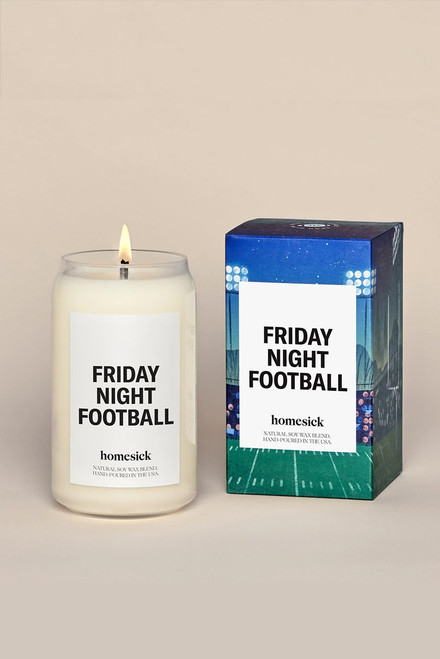 Homesick Friday Night Football Candle-Front