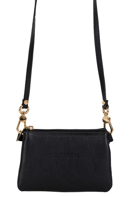 Kelly Tooke Black Lillian Super Mini Crossbody - Front
