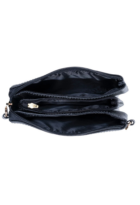 Kelly Tooke Black Lillian Super Mini Crossbody - Side