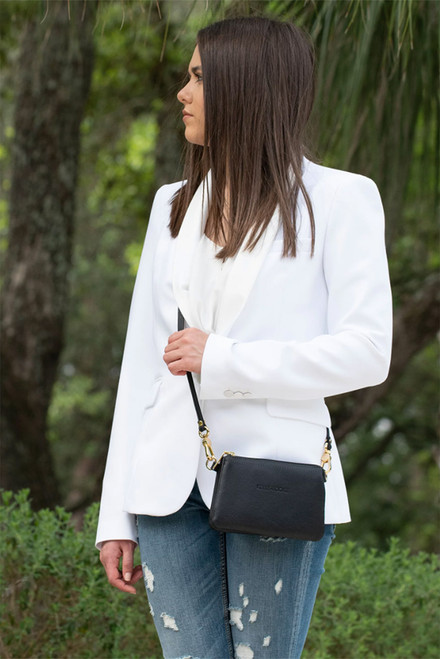 Kelly Tooke Black Lillian Super Mini Crossbody - Lifestyle