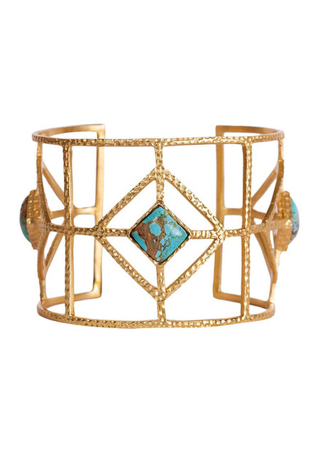 Christina Greene Turquoise Lux Cuff  - Front