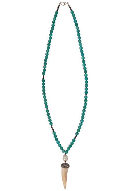 Ticklebutton Jewels Horn Pendant Necklace - Front
