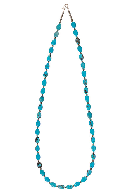 Ticklebutton Jewels Turquoise Beaded Necklace - Front