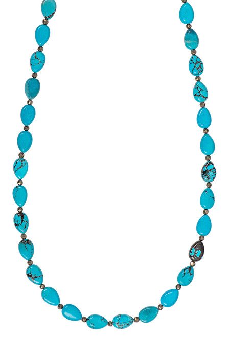 Ticklebutton Jewels Turquoise Beaded Necklace - Close up