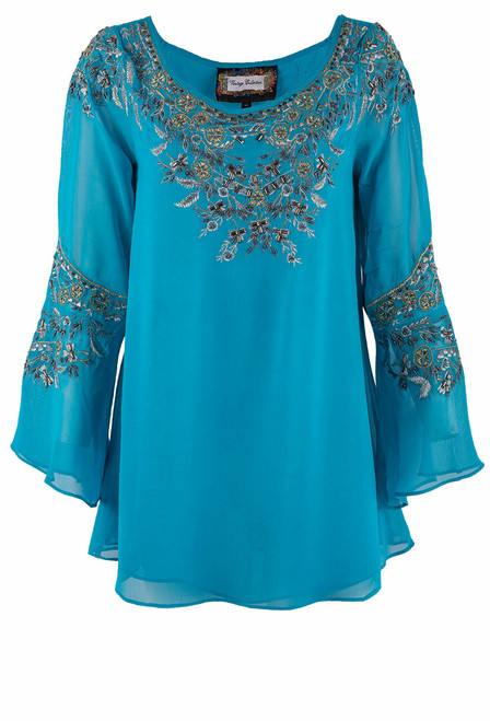 Vintage Collection Blue Diamond Tunic - Front