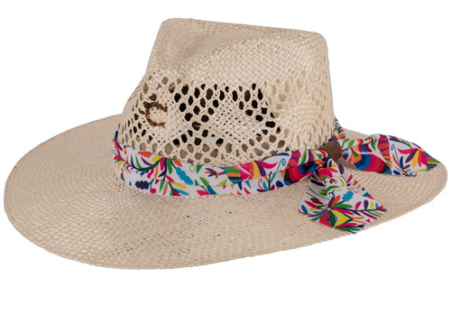 Charlie 1 Horse Spirit Animal Straw Hat - Angle