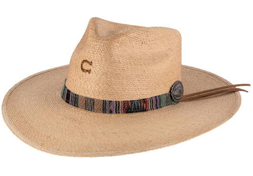 Charlie 1 Horse Saltillo Copper Straw Hat  - Angle