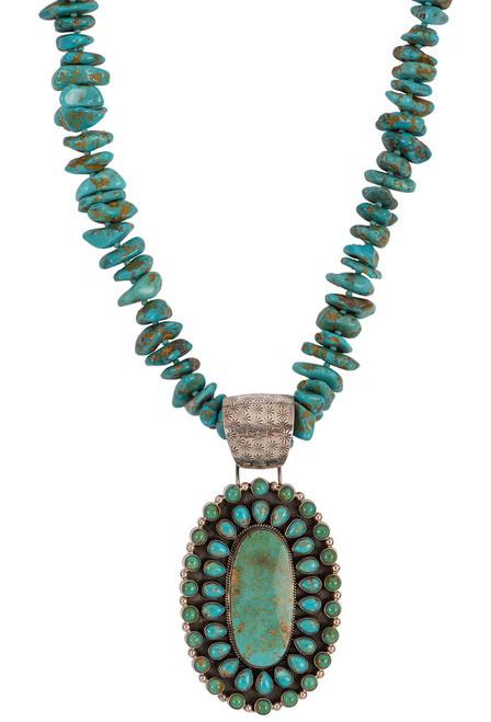 Sweet Tea Jewelry Baja Turquoise Necklace Set - Necklace