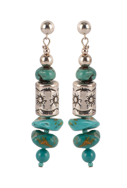 Sweet Tea Jewelry Baja Turquoise Necklace Set - Earrings