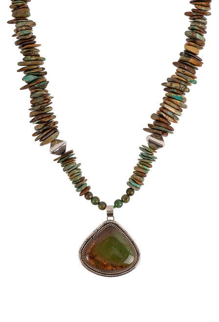 Sweet Tea Jewelry Brown & Green Pendant Necklace Set - Necklace