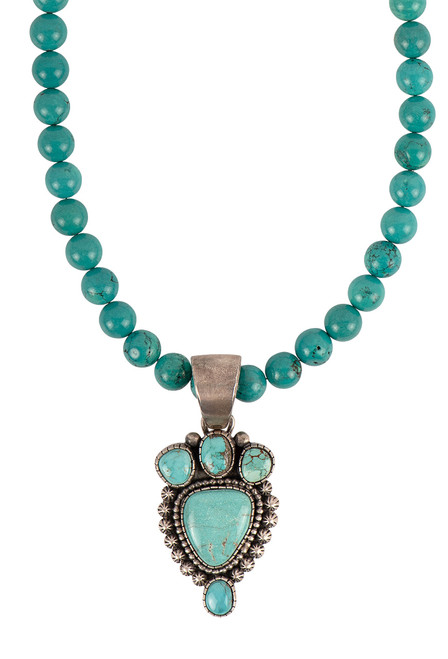 Sweet Tea Jewelry Carico Lake Turquoise Necklace Set - Necklace