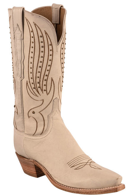 """Lucchese Women's 12"""" Camilla Stud Cowboy Boots - Angle"""