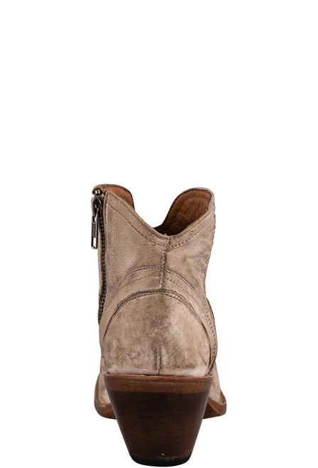 Lucchese Women's Ericka Distressed Bootie - Back