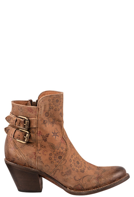 """Lucchese Women's Catalina 6"""" Floral Booties - Side"""