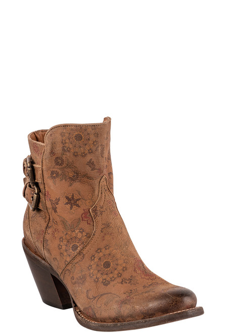 """Lucchese Women's Catalina 6"""" Floral Booties - Angle"""
