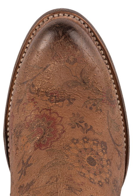 """Lucchese Women's Catalina 6"""" Floral Booties - Toe"""