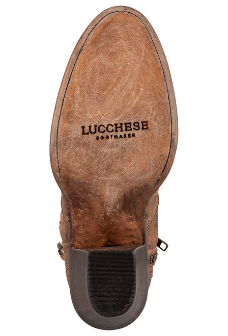 """Lucchese Women's Catalina 6"""" Floral Booties - Sole"""