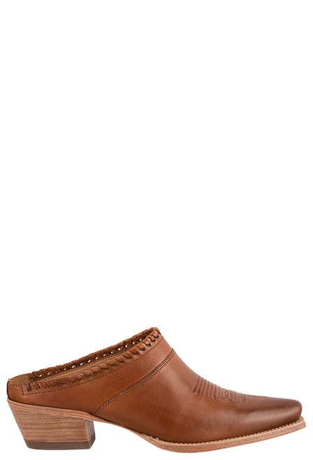 Lucchese Women's Kim Golden Tan Mule - Side
