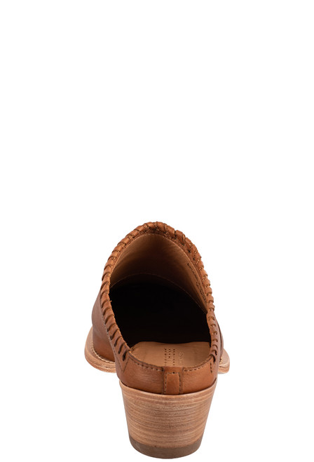 Lucchese Women's Kim Golden Tan Mule - Back