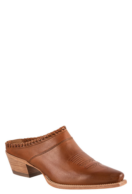 Lucchese Women's Kim Golden Tan Mule - Angle
