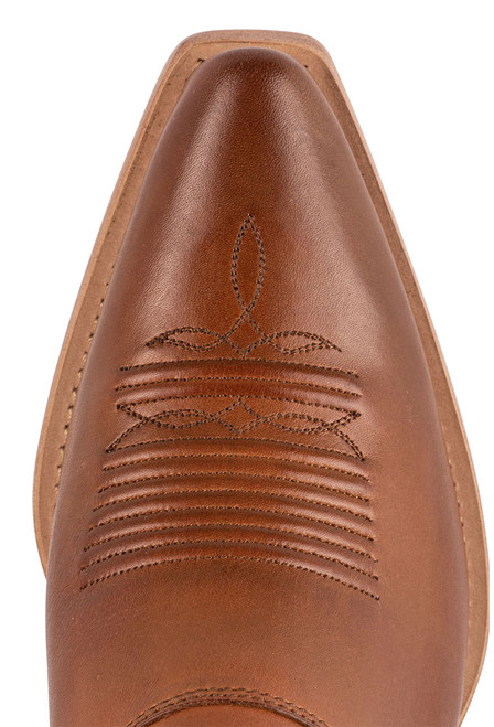 Lucchese Women's Kim Golden Tan Mule - Toe