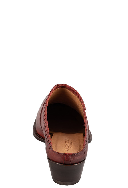 Lucchese Women's Kim Red Mule - Back