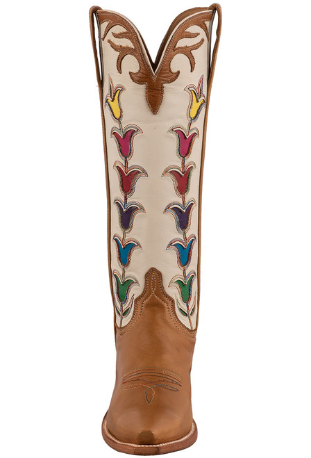 """Lucchese 15"""" Tulip Rust Cowboy Boots - Front"""