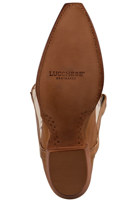 """Lucchese 15"""" Tulip Rust Cowboy Boots - Sole"""