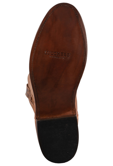 Lucchese Sunset Roper Tan Mad Dog Cowboy Boots - Sole