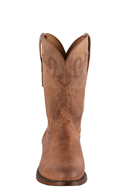 Lucchese Sunset Roper Tan Mad Dog Cowboy Boots - Front
