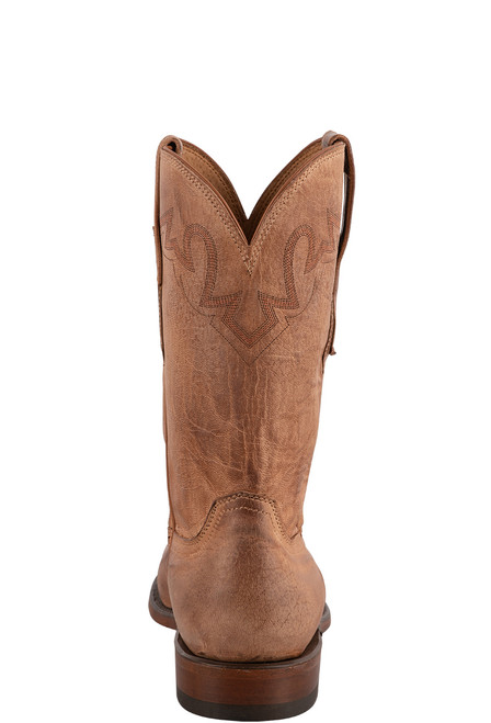 Lucchese Sunset Roper Tan Mad Dog Cowboy Boots - Back