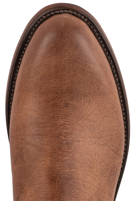 Lucchese Sunset Roper Tan Mad Dog Cowboy Boots - Toe
