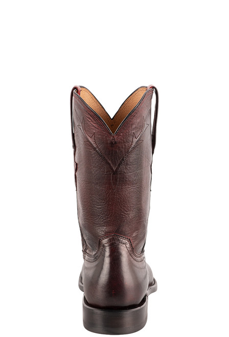 Lucchese Kennedy Black Cherry Florence Buffalo Roper Boots - Back