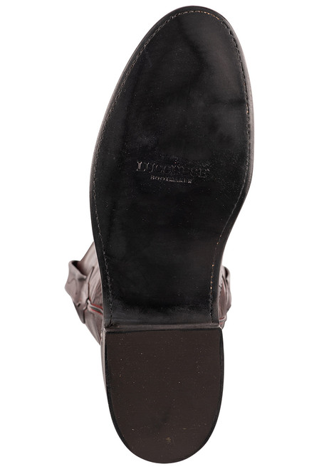 Lucchese Kennedy Black Cherry Florence Buffalo Roper Boots - Sole