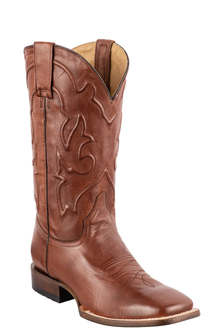 Stetson Men's Burnished Brown Cowboy Boots - Angle