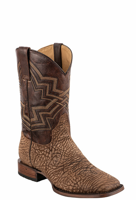 Stetson Men's Burnished Brown & Purple Cowboy Boots - Angle