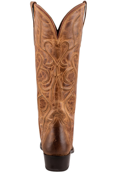 """Lucchese Patsy 13"""" Tan Mad Dog Cowboy Boots - Back"""