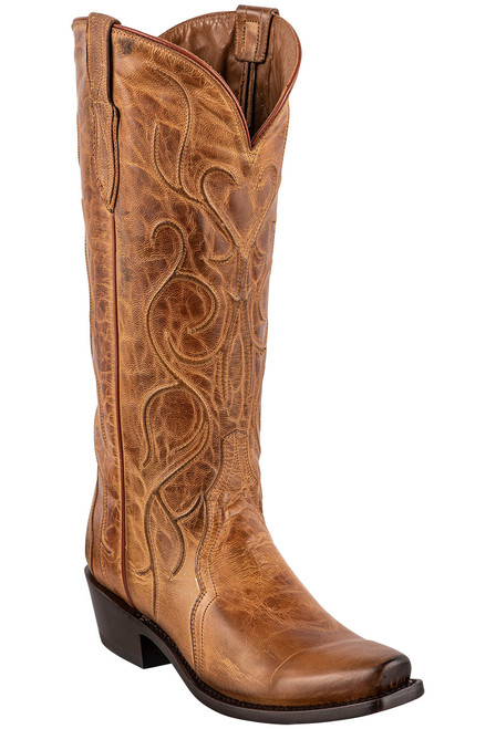 """Lucchese Patsy 13"""" Tan Mad Dog Cowboy Boots"""