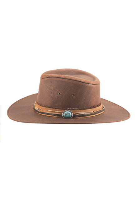 Bullhide Savage Love Leather Hat - Side
