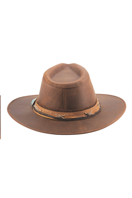 Bullhide Savage Love Leather Hat - Back