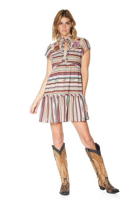 Double D Ranch Santa Rita Serape Print Dress - Full Body