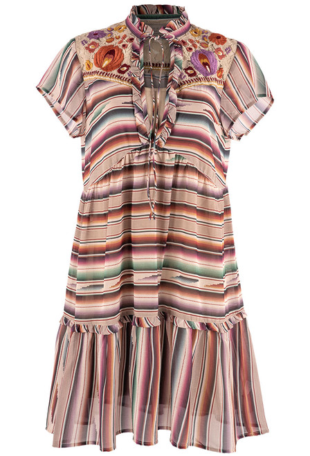 Double D Ranch Santa Rita Serape Print Dress  - Front