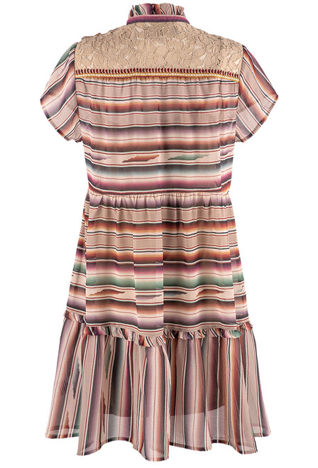 Double D Ranch Santa Rita Serape Print Dress  - Back