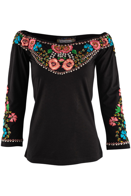 Vintage Collection American Rose Knit Top - Front