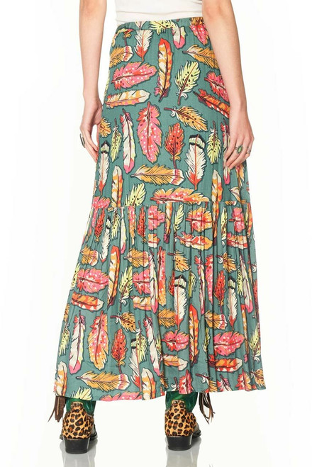 Double D Ranch Flight Feather Long Skirt  - Back