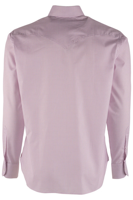 Pinto Ranch YY Collection Rose and Blue Check Shirt - Back