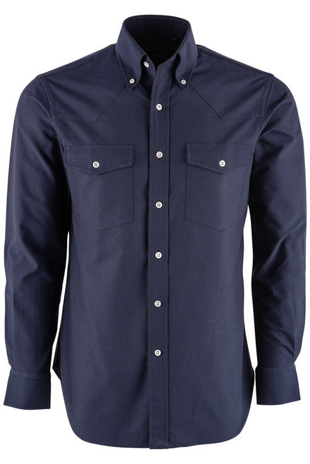 Pinto Ranch YY Collection Navy Oxford Dress Shirt - Front