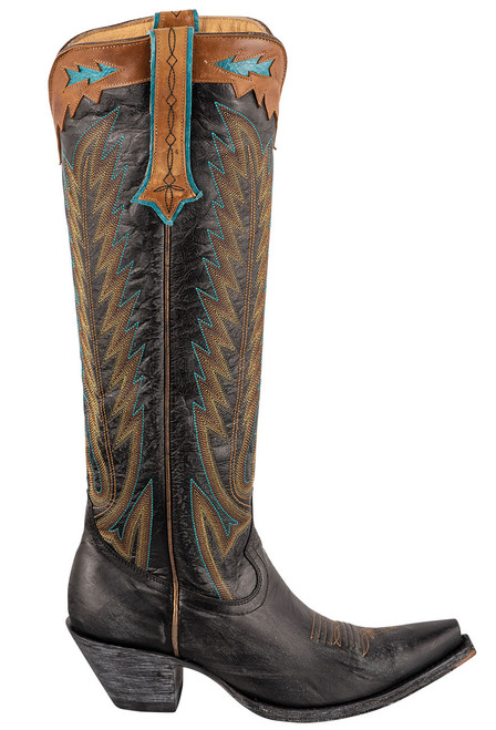 """Old Gringo Women's Yucatan 17"""" Tall Boots - Side"""