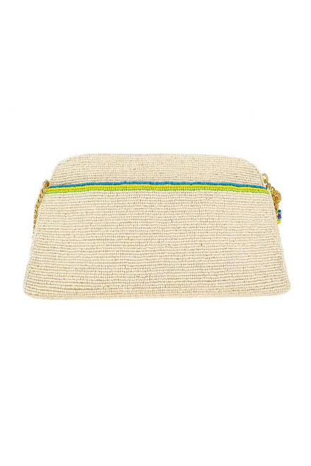 Mary Frances Rise and Shine Beaded Crossbody Clutch  - Back